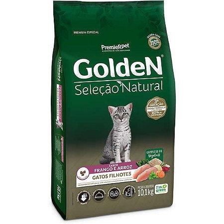 Golden Seleção Natural Gato Filhote Frango/Arroz 10,1kg