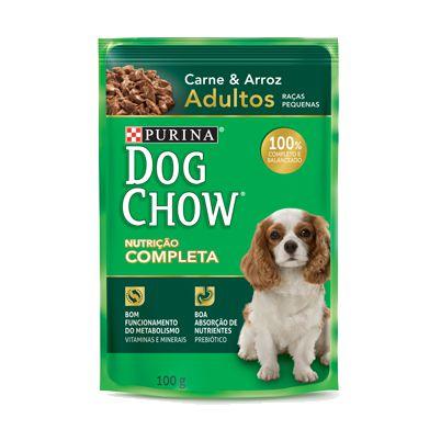Dog Chow Sachê Adultos - Raças Pequenas Carne/Arroz 100g