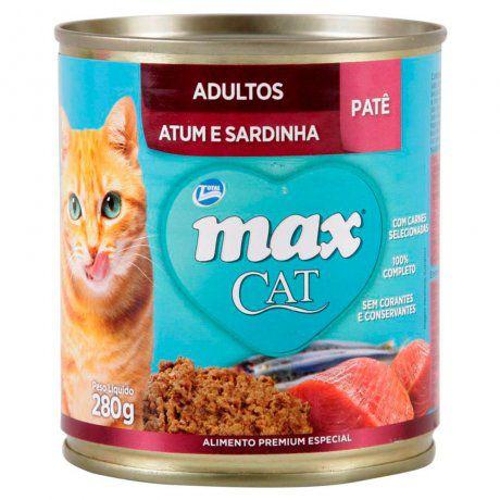 Max Cat Patê Adultos - Atum/Sardinha 280g