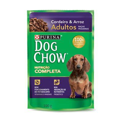 Dog Chow Sachê Adultos - Raças Pequenas Cordeiro/Arroz 100g