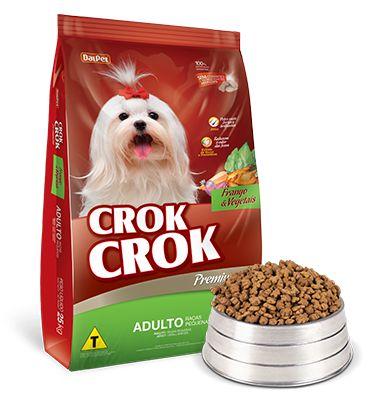 Crok Crok Frango/Vegetais Adultos - Raças Pequenas 10,1kg