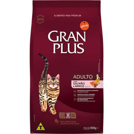 Gran Plus Gatos Adultos - Salmão 10X1kg