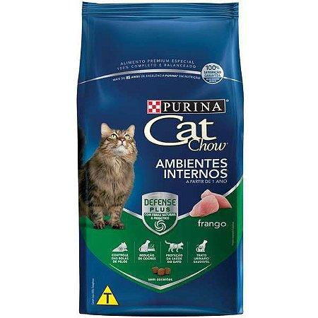 Cat Chow Adultos - Os Ambientes Internos -  Frango 10,1kg