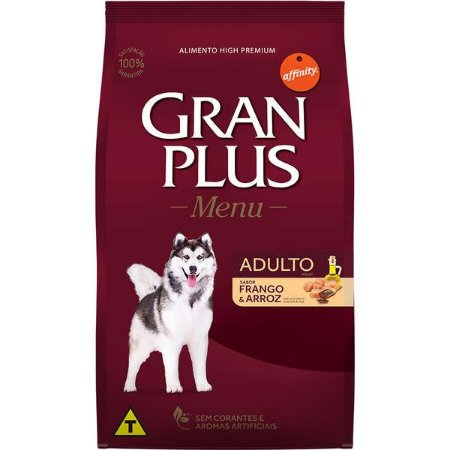 Gran Plus Cães Adultos - Menu Frango/Arroz 20kg