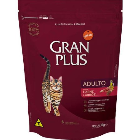 Gran Plus Gatos Adultos - Carne 3kg