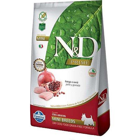 N&D Prime Adultos - Mini Frango/Romã 2,5kg