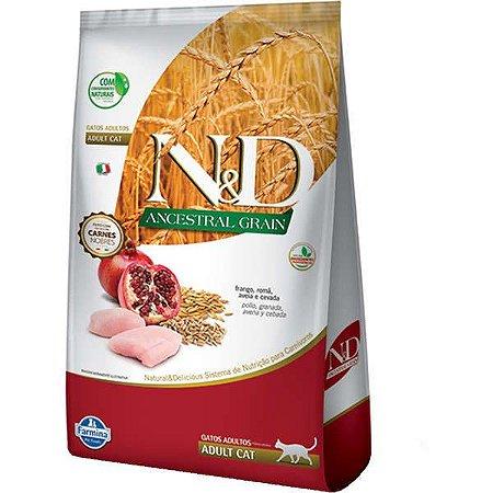 N&D Ancestral Grain Feline Adultos - Frango/Romã 400g