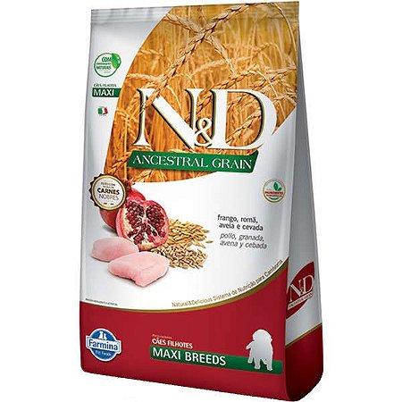 N&D Ancestral Grain Puppy Maxi Frango/Romã 10,1kg