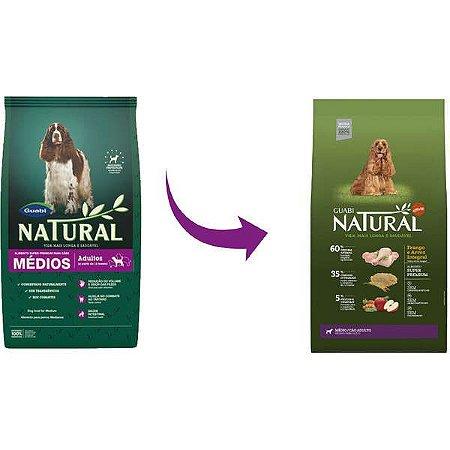 Guabi Natural Cães Adultos - Medio Frango E Arroz Integral 20kg