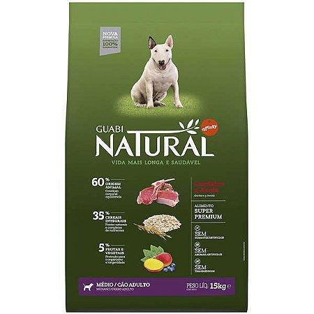 Guabi Natural Cães Adultos - Médio Cordeiro E Aveia 15kg