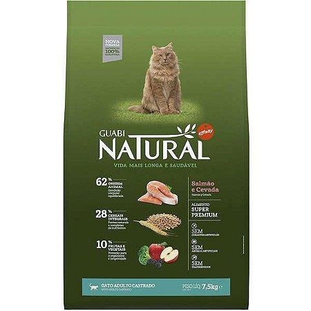 Guabi Natural Gato Castrado - Salmão E Cevada 7,5kg