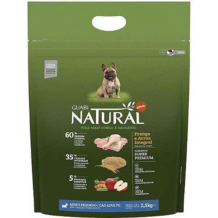 Guabi Natural Cães Adultos - Porte Mini E Pequeno - Fran E Arroz Integral 2,5kg