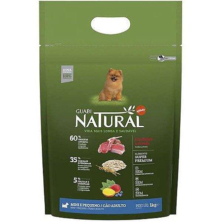 Guabi Natural Cães Adultos - Porte Mini E Pequeno - Cordeiro E Aveia 1kg