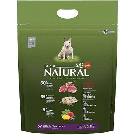 Guabi Natural Cães Adultos - Médio Cordeiro E Aveia 2,5kg
