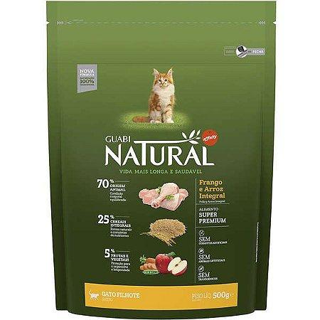 Guabi Natural Gato Filhote Frango e Arroz Integral 500g