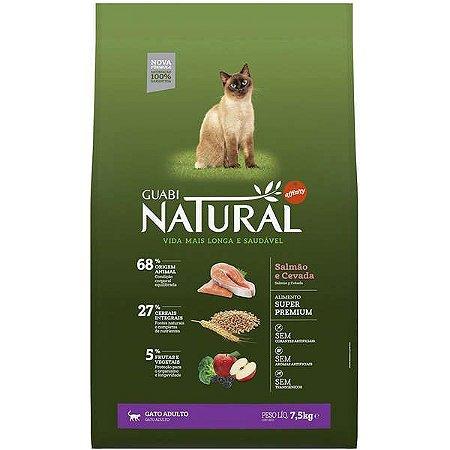 Guabi Natural Gatos Adultos - Salmão E Cevada 1,5kg