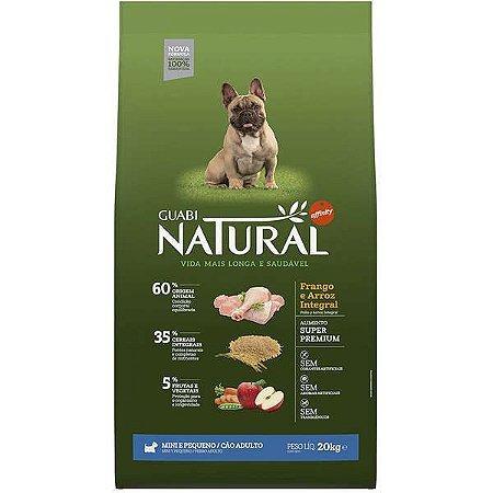 Guabi Natural Cães Adultos - Porte Mini E Pequeno Frango E Arroz Integral 20kg