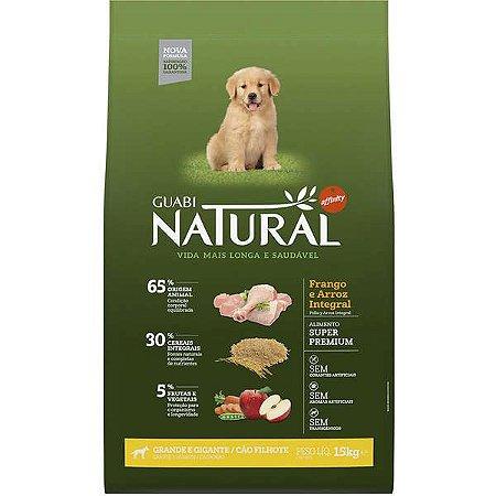 Guabi Natural Cão Filhote GG Frango E Arroz Integral 15kg