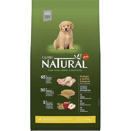 Guabi Natural Cão Filhote GG Frango E Arroz Integral 20kg
