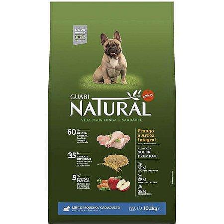 Guabi Natural Cães Adultos - Porte Mini E Pequeno - Fran E Arroz Integral 10,1kg