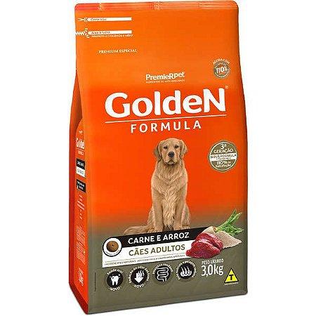 Golden Fórmula Adultos - Carne/Arroz 3kg