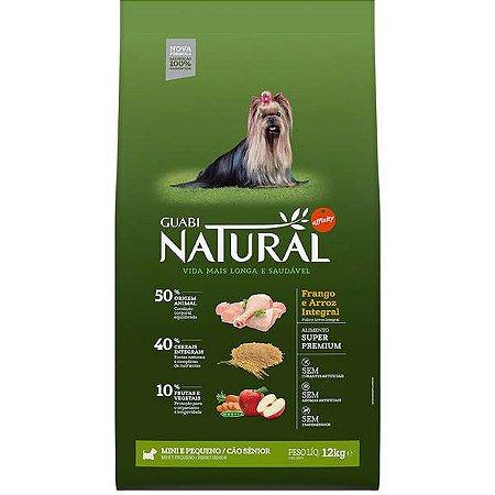 Guabi Natural Cão Sênior Porte Mini E Pequeno - Frango E Arroz 12kg