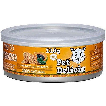 Pet Delícia Gato Frango Com Mamao 110g