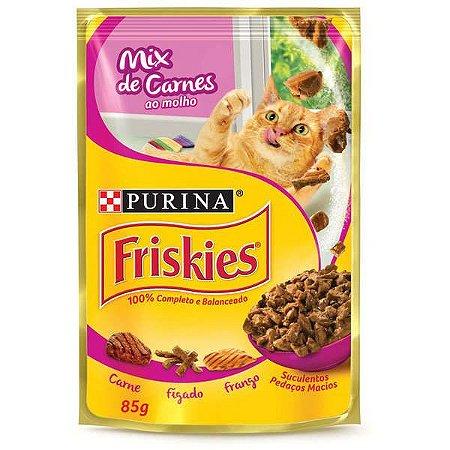 Friskies Sachê Mix De Carne Ao Molho 85g