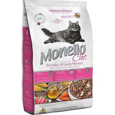 Monello Cat Salmão Atum E Frango 7kg