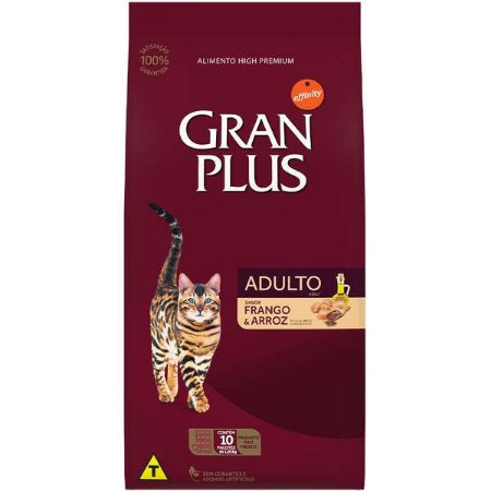 Gran Plus Gatos Adultos - Frango Arroz 10kgx1kg
