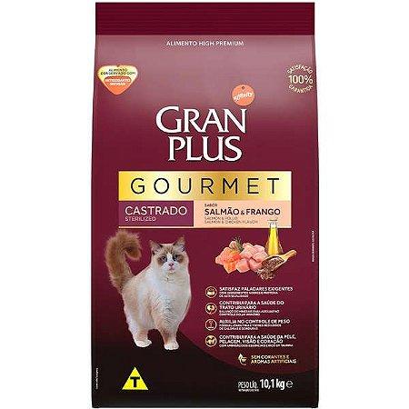 Gran Plus Gato Gourmet - Castrado - Salmão Frango 10,1kg