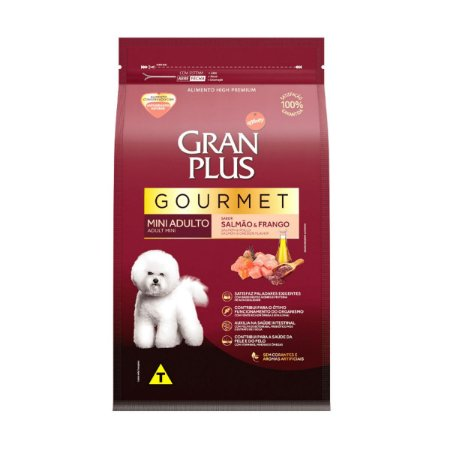 Gran Plus Cães Adultos - Gourmet Mini Salmão Frango 3kg