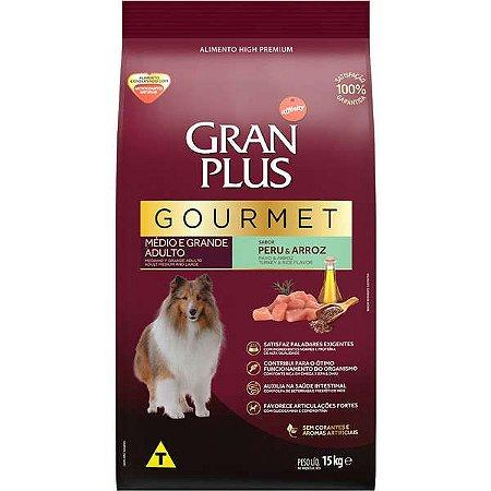Gran Plus Cães Gourmet Adultos - Médio e Grande Peru e Arroz 15kg