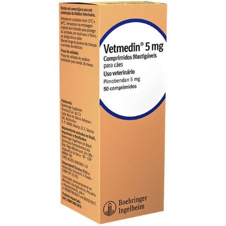 Vetmedin 5mg C/50 Comprimidos