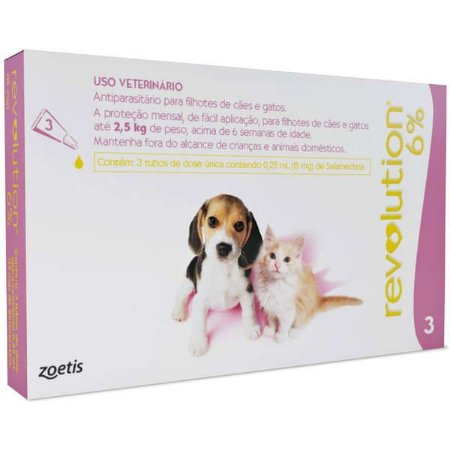 Revolution 15mg Cães-Gatos 2,5kg Caixa C/3