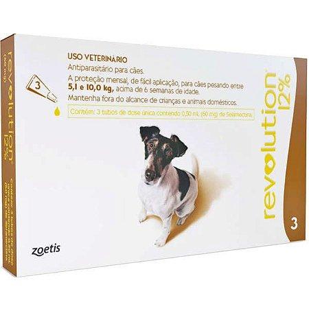 Revolution 60mg Cães 5,1-10kg Caixa C/3