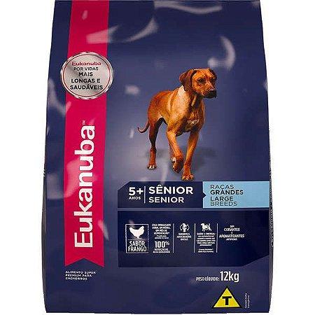 Ração Eukanuba Para Cães Sênior De Raças Grandes - 12 kg