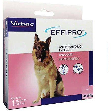 Antipulgas E Carrapatos Virbac Effipro 2,68 ml Cães De 20 Até 40 kg 1 Unidade