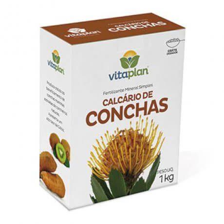 Fertilizante Mineral Calcário De Conchas Vitaplan 1 kg