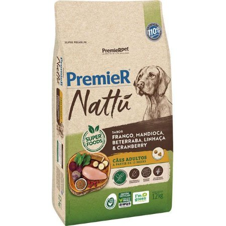 Premier Nattu Adulto - Mandioca 12kg