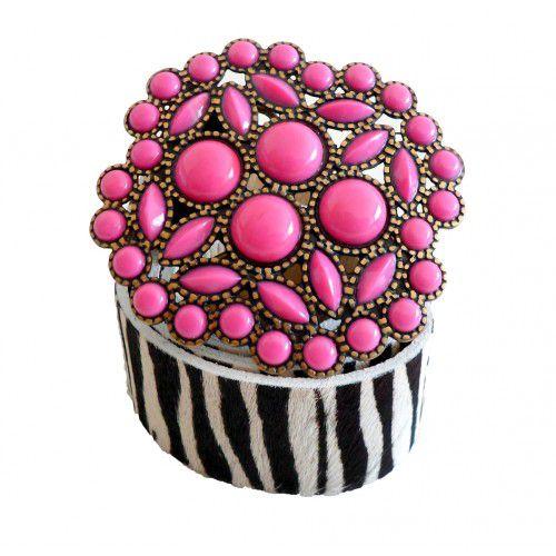 Cinto Fashion Zebrinha Pink