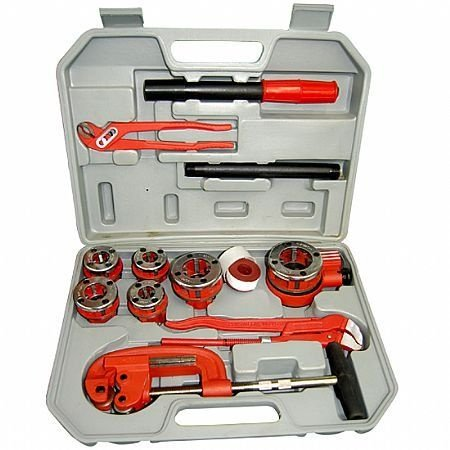 Rosqueador Manual BSPT Catracado com 13 Peças 681117 - Lee Tools