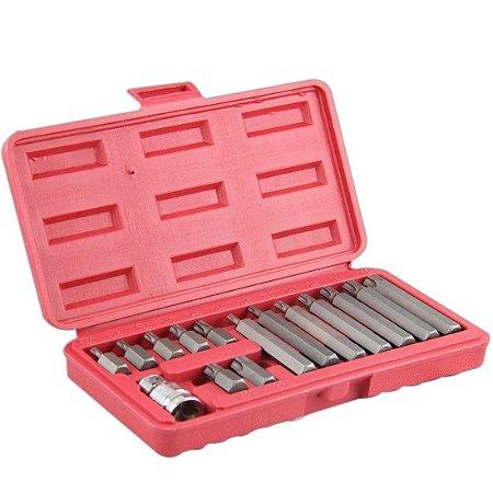 Jogo Bits Tork Com 15 Peças Encaixe 1/2 Polegadas 684668 - Lee Tools
