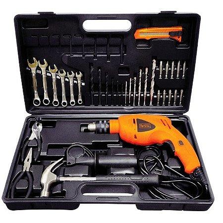 Kit de ferramentas com furadeira 550W Black Decker HD565K