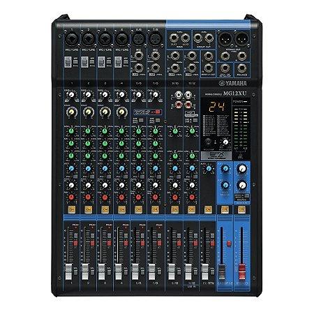 Mesa de Som Yamaha MG12XU com Efeito / USB