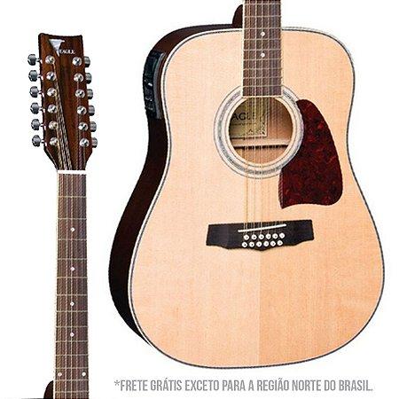 Violao Eagle CH888E12 NT Folk Natural 12 Cordas