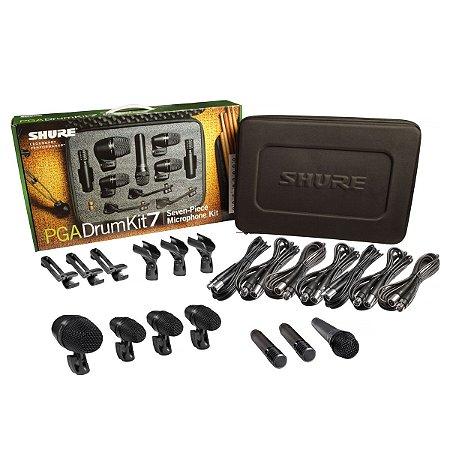 Kit de Microfone Shure PGADRUMKIT7 pra Bateria