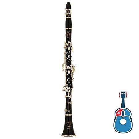 Clarineta Eagle CL04N 17 Chaves Niquelada Corpo Brilhante