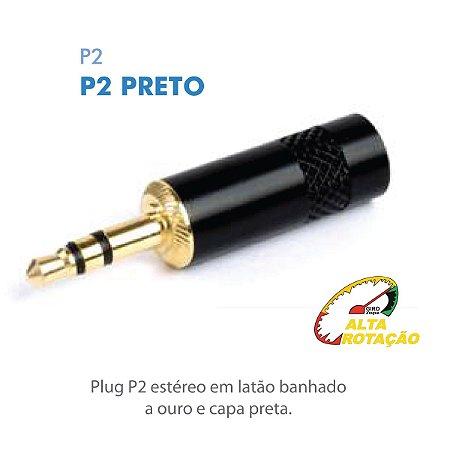 Plug P2 Santo Angelo P2ST Macho Linha Dourado SAS Stereo
