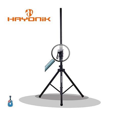 Pedestal Hayonik PA-100 p/ Caixa Acustica Aluminio Preto